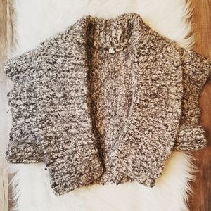Cropped Moth Wool Cardigan